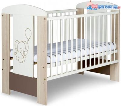 Łóżeczko dziecięce 120x60 klupś słonik